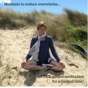 Reduce overwhelm with meditation